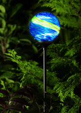 Murano Midnight Solar Garden Light