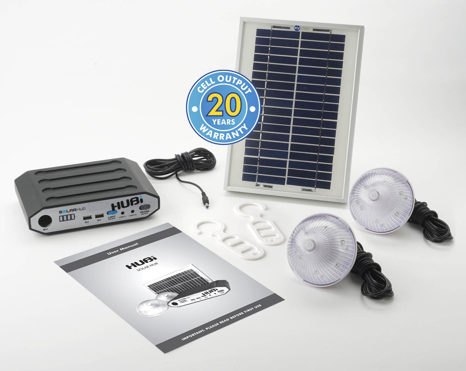 Solar Hubi 2K Light and Power Kit