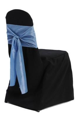 Black Banquet Chair Cover Rentals - B#1