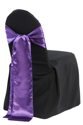 Black Banquet Chair Cover Rentals - B#3