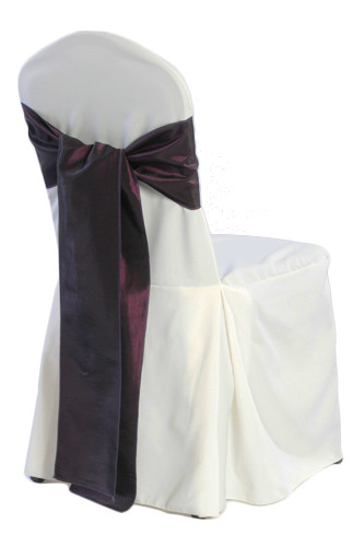 Ivory Banquet Chair Covers - 2/Pleat