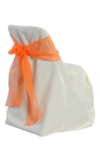Ivory Folding Chair Covers 00021