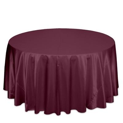 Burgundy Tablecloth - Polyester Satin