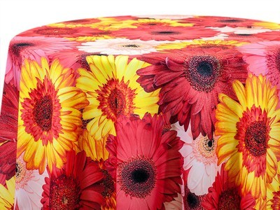 Daisy Satin Tablecloth Rentals