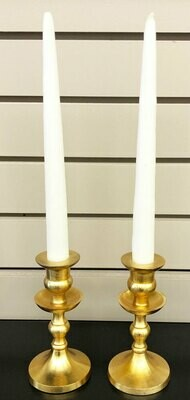 Gold Metal Candle Holders - Set of 2