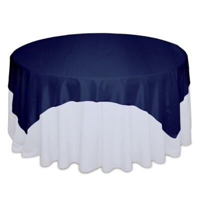 Blue Velvet Tablecloth Rentals - Taffeta