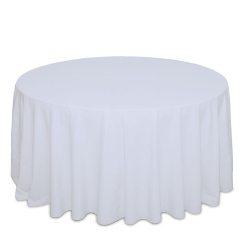 White Tablecloths White Solid Polyester Table Cloth Rental