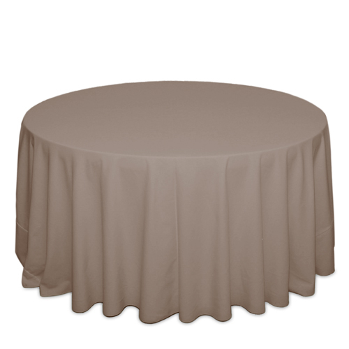 Khaki Tablecloths Khaki Solid Polyester Tablecloth Rentals