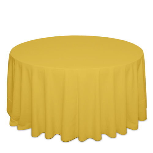 Goldenrod Tablecloths Goldenrod Solid Polyester Tablecloth Rentals