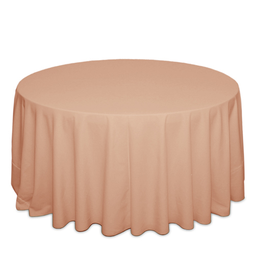 Peach Tablecloths Peach Solid Polyester Tablecloth Rentals