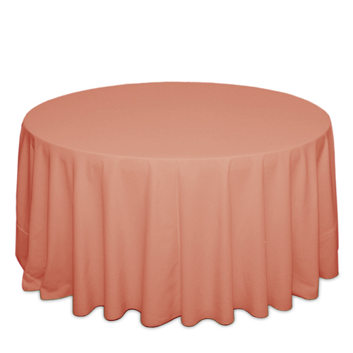 Coral Tablecloths Coral Solid Polyester Tablecloth Rentals