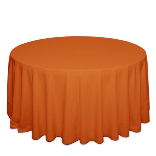 Pumpkin Tablecloths Pumpkin Solid Polyester Tablecloth Rentals