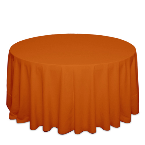 Orange Tablecloths Orange Solid Polyester Tablecloth Rentals