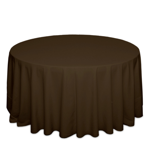 Brown Tablecloths Brown Solid Polyester Tablecloth Rental