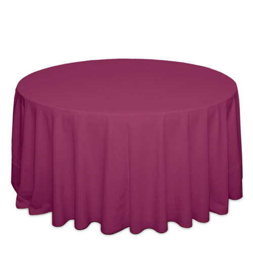 Raspberry Tablecloths Raspberry Solid Polyester Tablecloth Rentals