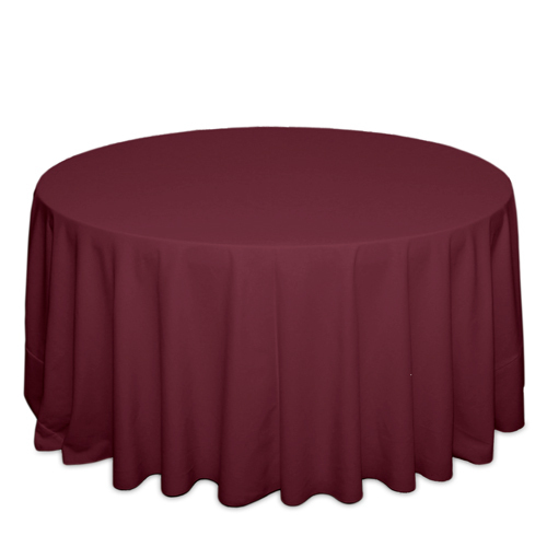 Burgundy Tablecloths Burgundy Solid Polyester Tablecloth Rentals