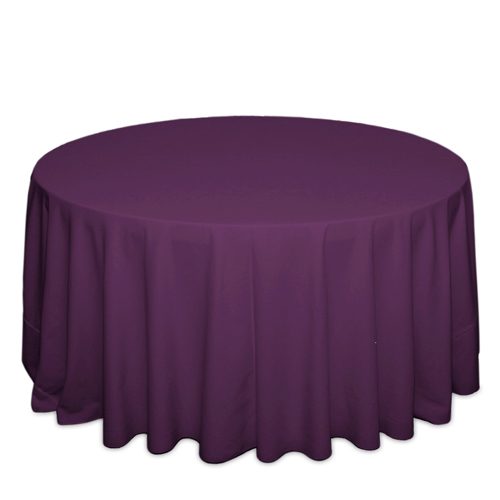 Plum Tablecloths Plum Solid Polyester Tablecloth Rentals