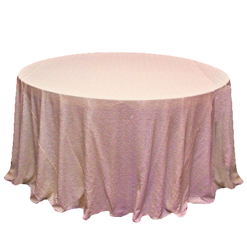 Blush Glitz Sequin Tablecloth Rentals - Taffeta Blush Glitz Sequin Tablecloth Rentals - Taffeta