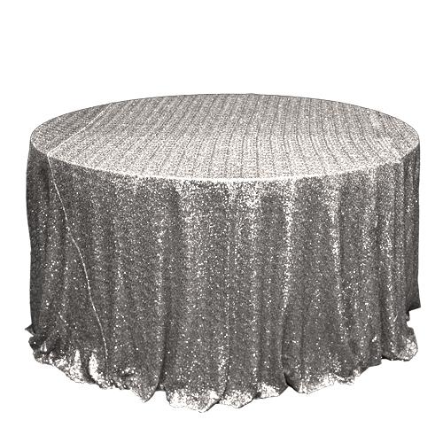 Silver Sequin Overlay Rentals - Mesh Silver Sequin Overlay Rentals - Mesh