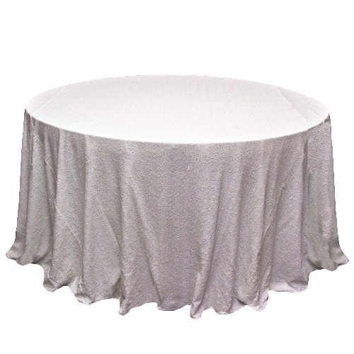 White Sequin Tablecloth Rental - Mesh White Sequin Tablecloth Rental - Mesh