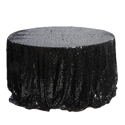 Black New York Dazzle Sequin Tablecloth Rentals - Mesh Black New York Dazzle Sequin Tablecloth Rentals - Mesh