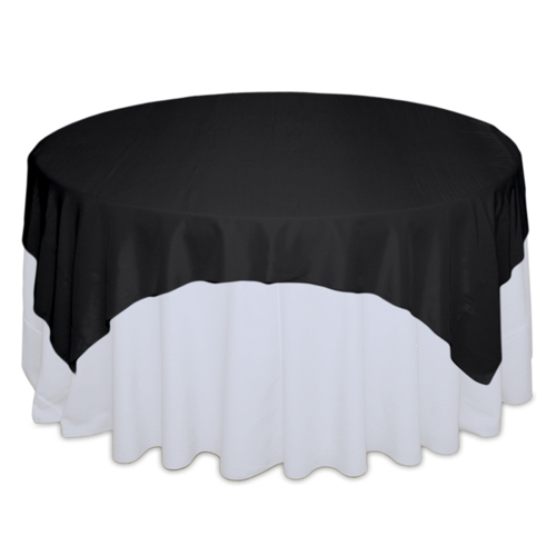 Black Tablecloth Rentals - Taffeta