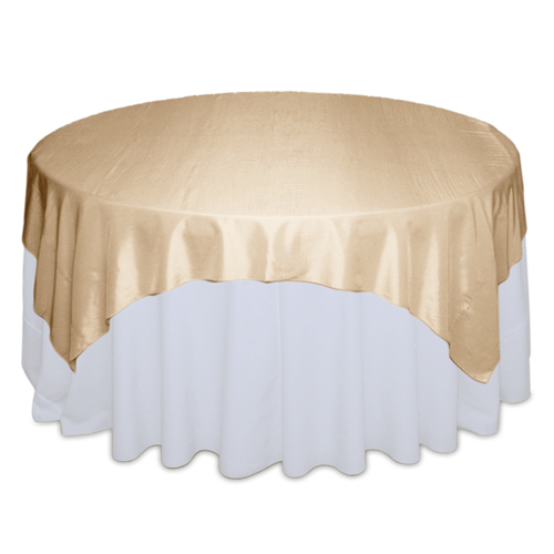 Champagne Tablecloth Rentals - Taffeta Champagne Taffeta Overlay Rental