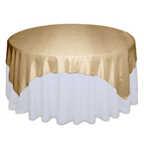Gold Tablecloth Rentals - Taffeta Gold Taffeta Overlay Rental