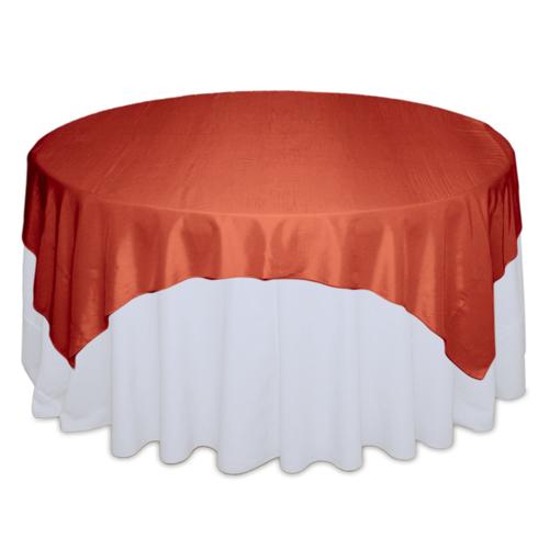 Burnt Orange Tablecloth Rentals - Taffeta