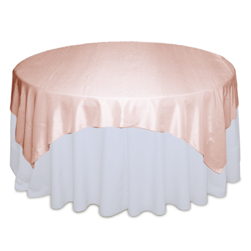 Blush Taffeta Table Overlay Rental Blush Taffeta Overlay Rental