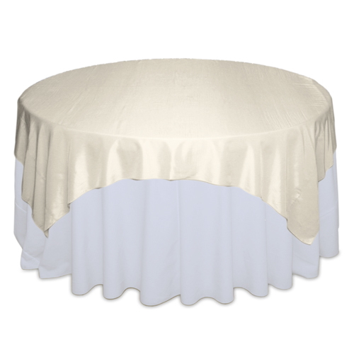 Banana Table Overlays Rentals -  Taffeta Banana Taffeta Overlay Rental