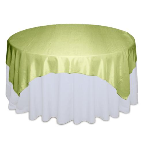 Kiwi Tablecloth Rentals - Taffeta Kiwi Taffeta Overlay Rental