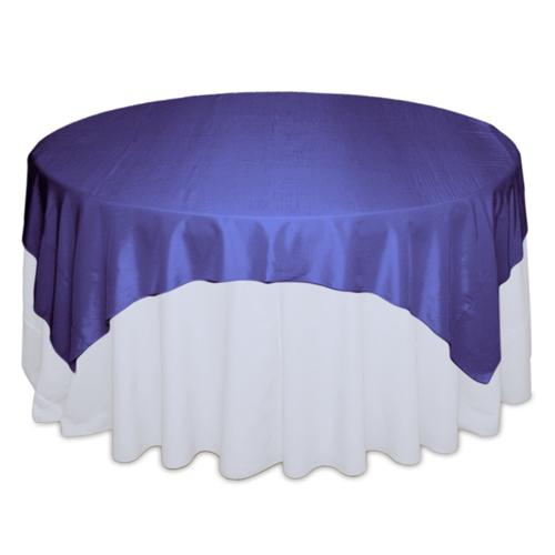 Purple Tablecloth Rentals - Taffeta Purple Taffeta Table Overlay Rental