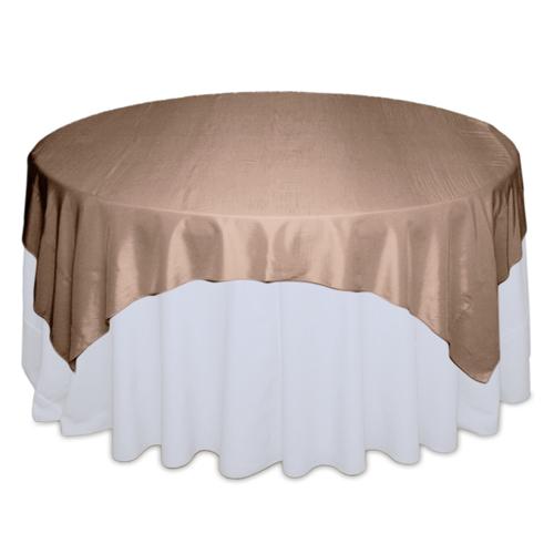LatteTablecloth Rentals - Taffeta Latte Taffeta Overlay Rental