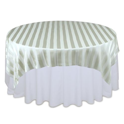 Sage Eternity Sheer Stripe Table Overlay Rental