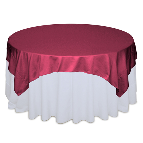 Watermelon Matte Satin Table Overlay Rental