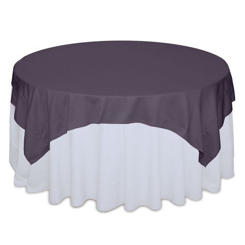 Victorian Lilac Matte Satin Table Overlay Rental Victorian Lilac Matte Satin Overlay Rental