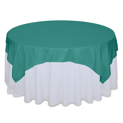 Jade Matte Satin Table Overlay Rental