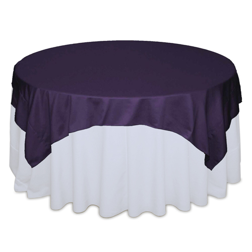 Lapis Matte Satin Table Overlay Rental Lapis Matte Satin Overlay Rental