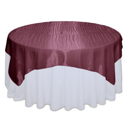 Burgundy Mirror Table Overlay Rental Burgundy Mirror Overlay Rental