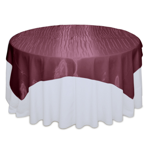 Burgundy Mirror Table Overlay Rental