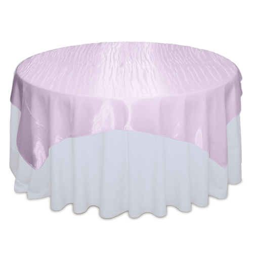 Light Pink Mirror Table Overlay Rental