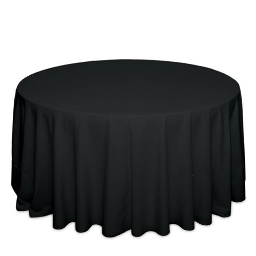 Black Tablecloths Black Solid Polyester Tablecloth Rental