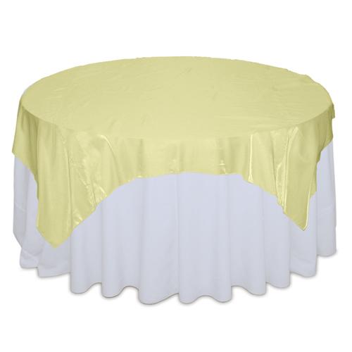 Yellow Organza Satin Table Overlay Rental Yellow Organza Satin Overlay Rental