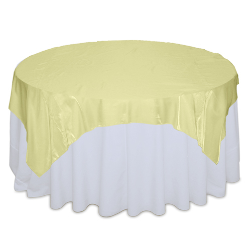 Yellow Organza Satin Table Overlay Rental