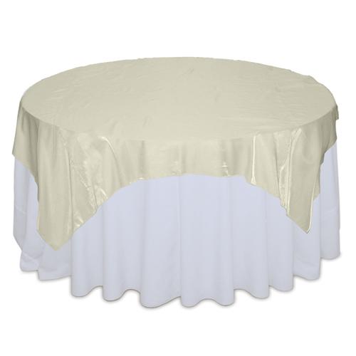 Ivory Organza Satin Table Overlay Rental Ivory Organza Satin Overlay Rental