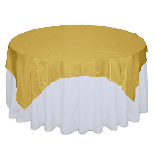Gold Organza Satin Table Overlay Rentals Gold Organza Satin Overlay Rentals