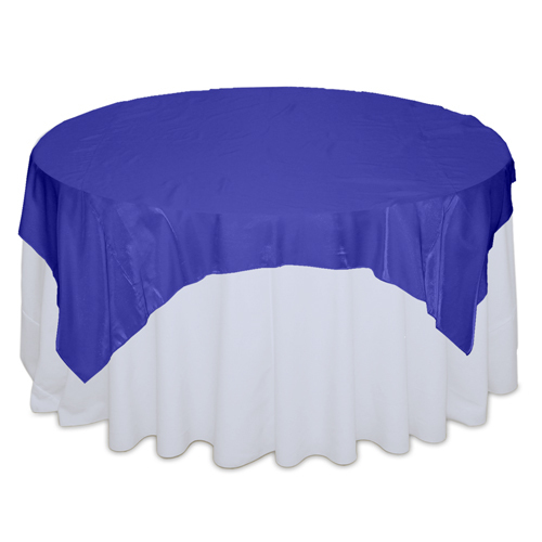 Royal Blue Organza Satin Table Overlay Rental Royal Blue Organza Satin Overlay Rental