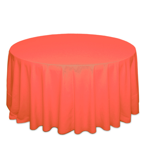 Neon Orange Tablecloths Neon Orange Polyester Tablecloth Rentals