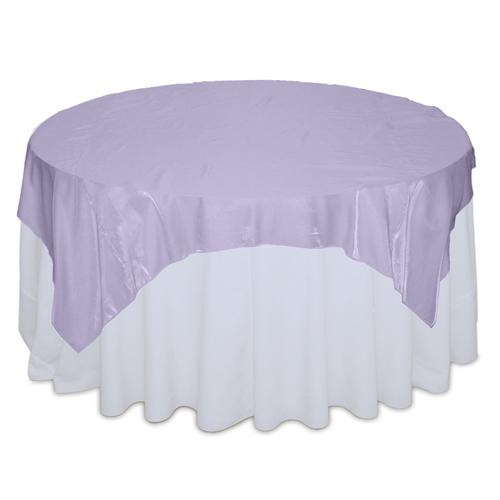 Lilac Organza Satin Table Overlay Rental Lilac Organza Satin Overlay Rental